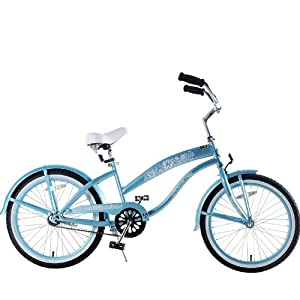 Amazoncom Kids Bike Girls 20 Beach Cruiser Baby Blue Bicycle Toys Amp Games
