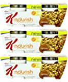 Kellogg's Special K Nourish Hot Cereal Maple Brown Sugar Crunch (Pack of 3, Total of 6 Bowls)
