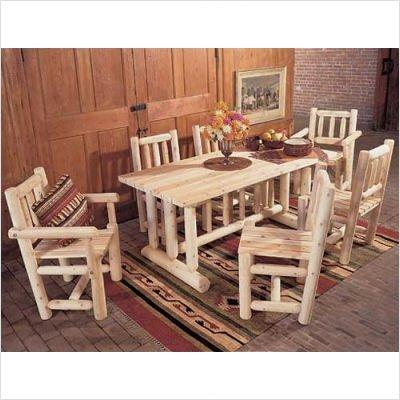 Cedar Log Dining Table Log Cabin Dining Room Furniture 2016
