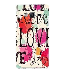 printtech Love Back Case Cover for Samsung Z3 :: :Samsung Z300H/DD