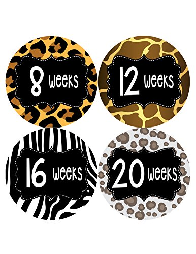 Months in Motion 920 Pregnancy Baby Bump Belly Stickers Maternity Week Sticker