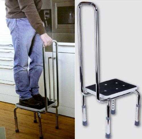 Bath Footstool - with Hand Rail