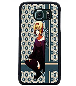 PrintDhaba Sad Girl D-2713 Back Case Cover for SAMSUNG GALAXY S6 (Multi-Coloured)