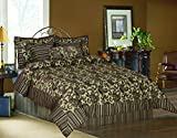 Tache Home Fashion 14224-Q 6 Piece Exotic Blooms Comforter Set, Queen