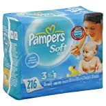 Pampers Soft Care Baby Fresh Scented Wipes Refills, 216 Ct.