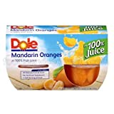 Dole Mandarin in 100% Fruit Juice, 4-Ounce Cups (Pack of 24)