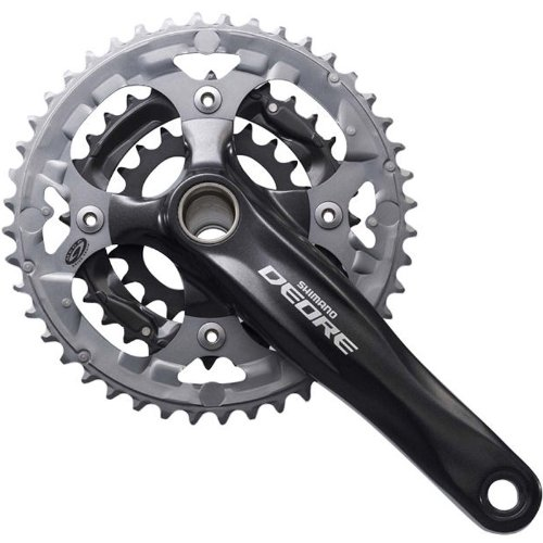 Shimano FC-M615 38/24T 10-Speed Deore Crankset, Black, 175mm (Shimano M615 Hollowtech Ii compare prices)
