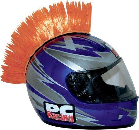 Universal Motorcycle Helmet Mohawks [Orange]