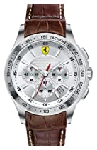 Scuderia Ferrari Chronograph Leather Strap Watch, 44mm