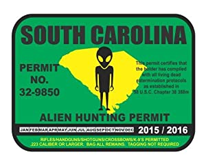 South Carolina Alien Hunting Permit License