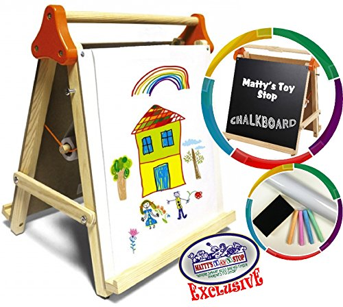Deluxe-3-in-1-Wooden-Tabletop-Easel-with-Blackboard-Dry-Erase-Paper-Roll-Accessories-Mattys-Toy-Stop-Exclusive