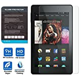 [Scratch Terminator] MoKo Premium HD Clear 9H Hardness Tempered Glass Screen Protector Film with Oleophobic Coating for Amazon Kindle Fire HD 7 Inch 2014 Tablet, Crystal CLEAR