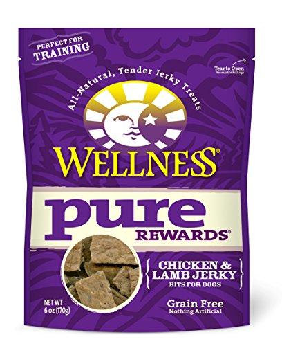 Wellness Pure Rewards Natural Grain Free Dog Treats, Chicken & Lamb Jerky, 6-Ounce Bag (Wellness Chicken And Lamb Treats compare prices)