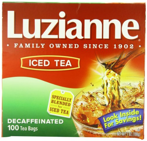 Luzianne Decaffeinated Tea Bags, 100 Count (Pack Of 6)