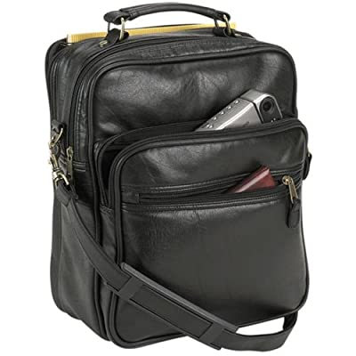 Falcon, Balmoral FI8172 black Leatherette grip flight tote cabin travel bag by Falcon International