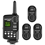 Neewer FT-16 16-Channel Wireless Remote Controller Flash Trigger Set Includes (1) Transmitter and (3) Receivers for AD180 AD360 Speedlite Flash, Suitable for Canon, Nikon, Pentax, Olympus Cameras