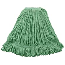 "Wilen A02811, J W Atomic Loop Wet Mop, Small, 1-1/4"" Tape Band, Green (Case of 12)"