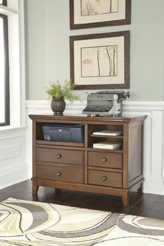 Burkesville Home Office Cabinet front-850024