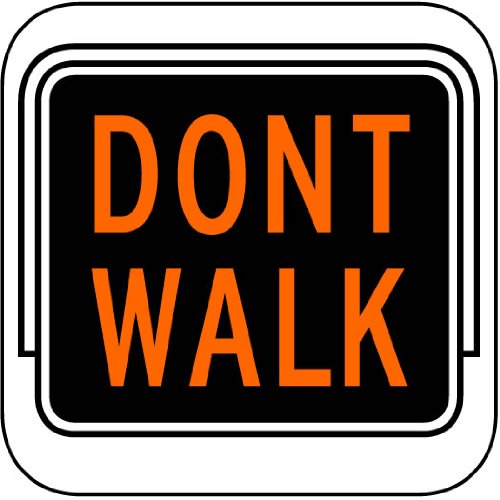 Street & Traffic Sign Wall Decals - Don'T Walk Light Sign - 12 Inch Removable Graphic front-1077570