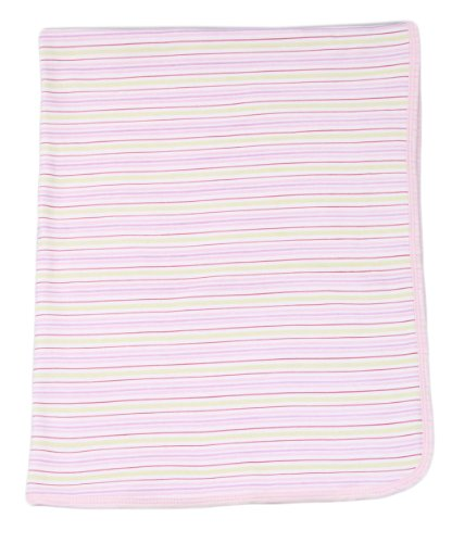 Spasilk Baby-girls 2 Ply Receiving Blanket Stripe Print - 1