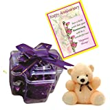 Skylofts Stylish Chocolate Pack With Teddy And A Anniversary Card - B01ADLZN8E