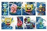 Unique SpongeBob SquarePants 8 Piece Holiday Christmas Tree Ornament Set Featuring Squidward, Sandy Cheeks, Patrick Star, Mr. Krabs, Plankton, Gary and More