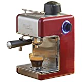 Cooks Professional 3.5 Bar Red Italian Espresso Cappuccino or Latte Coffee Machine - 800 Watts.