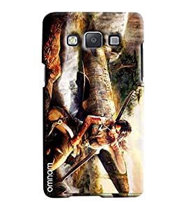 Omnam Girl Sitting After War Effect Printed Designer Back Cover Case For Samsung Galaxy A5