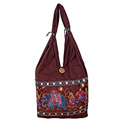Womaniya Women's Shoulder Bag (Brown-Woman-886)