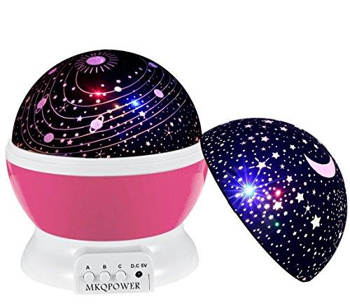 Stella proiettore di luce, MKQPOWER Roman tavolo 3modalità LED multicolore Moon Sky Star + Galaxy rotante Kosmos Star Light lampada per per bambini Bambini Baby camera da letto (blu)