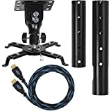 Cheetah Mounts APMEB Black Universal Projector Ceiling Mount