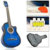 Blue Cutaway Acoustic Guitar w/ Accessories Combo Kit Beginners