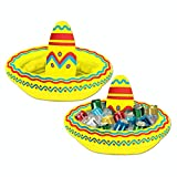 Pack of 6 Inflatable Mexican Cinco de Mayo Fiesta Party Sombrero Hat Coolers 18""