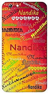 Nandika (Goddess Lakshmi, water vessel made up of clay) Name & Sign Printed All over customize & Personalized!! Protective back cover for your Smart Phone : Apple iPhone 6-Plus