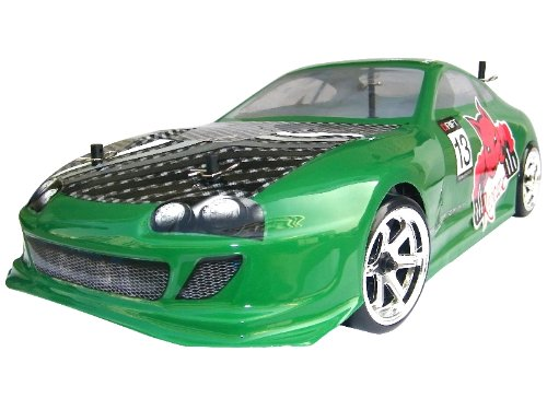 Thunder Drift Car ~ 1/10 Scale BELT DRIVE Electric RC ~ NEW ITEM By Redcat Racing ~ Green