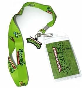 TMNT Teenage Mutant Ninja Turtles Green Logo Lanyard