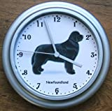 Quartz Wall Clock Dog Newfoundland, Newfie