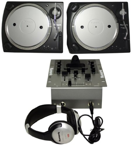 Brand New Numark Ibattlepack Dj Package with (2) Turntables, Mixer with Ipod Dock, and Dj Headphones