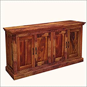 oklahoma rustic solid wood dining buffet. Black Bedroom Furniture Sets. Home Design Ideas