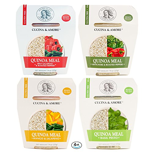 Assortit Superfood Quinoa Meal Pack, Variety Flavors Healthy Ready To Eat Gluten Free, 7.9 Ounce, 4 Count, Preservative Free, Non GMO, Microwaveable Container, Kosher, Vegan, Gluten Free (Sprouted Grain Bread Cookbook compare prices)