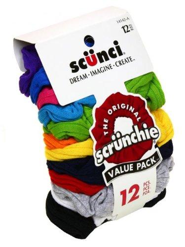 12 pc Scunci the original scruncies ponytail holders hairties
