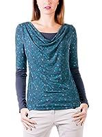 ZZ_Zergatik Camiseta Manga Larga Badu (Azul / Verde Agua)