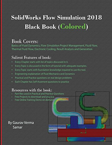 SolidWorks Flow Simulation 2018 Black Book (Colored) [Verma, Gaurav - Samar] (Tapa Blanda)