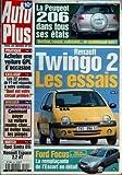 AUTO PLUS N? 520 du 25-08-1998 LA PEUGEOT 206 RENAULT TWINGO 2 - LES ESSAIS FORD FOCUS - LA REMPLACANTE DE L'ESCORT EN DEDAIL ACHETER UNE VOITURE GPL D'OCCASION LES 22 PILOTES DE F1 ONT REPONDU A NOTRE SONDAGE MANDATAIRES - COMMENT PAYER SA VOITURE MOINS CHER OPEL SINTRA DTI ET RENAUTL ESPAC...