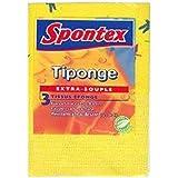 Spontex - tiponge extra souple 3 tissus éponge