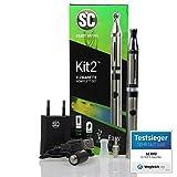 E-Zigaretten Komplett-Set SC Kit 2 in silber (Für Einsteiger und Profis) - perfektes Preis-Leistungsverhältnis