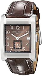Baume Mercier Men's 10028 Hampton Mens Brown Leather Strap Automatic Watch
