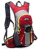 12L 軽量 サイクリングバッグ バックパック リュックサック 自転車 登山 リュック (赤)