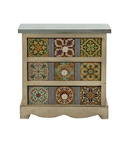 Deco 79 56650 Wood Canvas Table Chest, 14