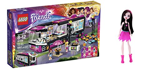 LEGO Friends Pop Star Tour Bus 682 Pcs & free Gifts Ghoul Spirit Draculaura Doll (Colors may vary) Toys (Lego Friends Adventure Camper compare prices)